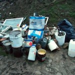 Niebezpieczne substancje na wysypisku śmieci
