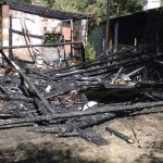 Pożar domków letniskowych w Smólnikach Mostowskich