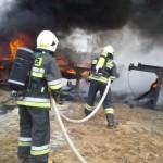 Ćwiczenia sompoleńskich strażaków