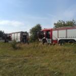 Pożar traw w miejscowości Błonawy