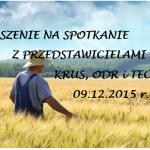 Zaproszenie na spotkanie z przedstawicielami KRUS, ODR i TECH- ROL