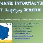 SPOTKANIE INFORMACYJNE NT. Inicjatywy JEREMIE