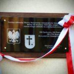 Odsłonięcie tablicy upamiętniającej Bitwę pod Sompolnem