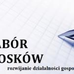 Nabór wniosków – rozwijanie działalności gospodarczej
