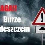 Komunikat ostrzegawczy – burze z opadami deszczu