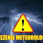 Komunikat ostrzegawczy – burze z gradem